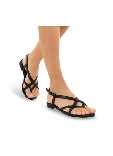 Muya Niki Anatomik Kadın Sandalet Siyah